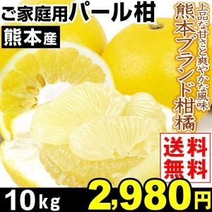 みかん 熊本産 ご家庭用 パール柑 10kg1箱 送料無料 熊本ブランド柑橘 文旦 ぶんたん 上品な甘さ kokkaen