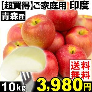 リンゴ 【超買得】家庭用 青森産 印度(いんど) 10kg 1箱 送料無料 希少りんご【数量限定】【ただいま発送中】|kokkaen