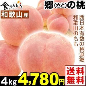 桃 和歌山産 郷の桃 4kg1組 送料無料 2kg×2箱 さとのもも 和歌山の桃 桃源郷のもも 白鳳 白桃 清水白桃 日川白鳳|kokkaen