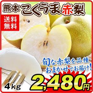 梨 熊本産 こくうま赤梨(約4kg) 品種おまかせ(豊水 幸水 秋月など)赤梨 あかなし食品 フルーツ 果物 国華園|kokkaen