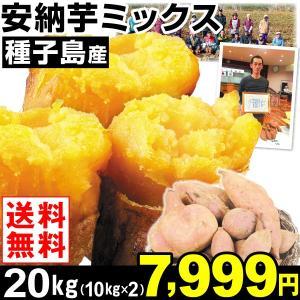 安納芋 種子島産 安納芋 ミックス 20kg1組 送料無料 さつまいも 食品|kokkaen