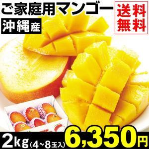 マンゴー 沖縄産 ご家庭用 マンゴー 約2kg1箱 送料無料 冷蔵便 食品|kokkaen