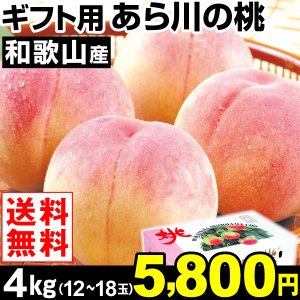 桃 ギフト用 和歌山産 あら川の桃 4kg1箱 送料無料 食品|kokkaen