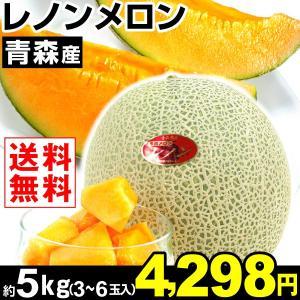 メロン 青森産 レノンメロン 約5kg1箱 送料無料 食品|kokkaen