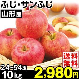 りんご 山形産 ふじ・サンふじ 10kg1組 送料無料 林檎 食品|kokkaen
