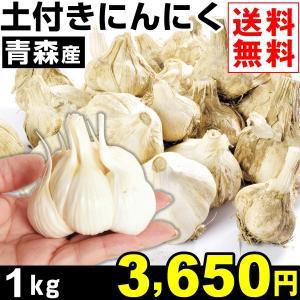 ニンニク 青森産 土付き にんにく 1kg1組 送料無料 ニンニク 野菜 食品|kokkaen