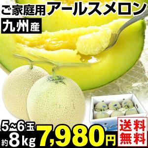 メロン ご家庭用 九州産 アールスメロン 約8kg1箱 送料無料 食品|kokkaen