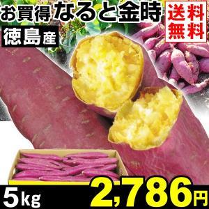 さつまいも 徳島産 お買得 なると金時 5kg1組 送料無料 ご家庭用 芋 食品|kokkaen