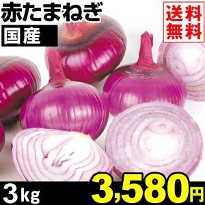 たまねぎ 国産 赤たまねぎ 3kg1箱 送料無料 玉ねぎ 野菜 食品|kokkaen