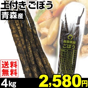 ごぼう 青森産 ごぼう 4kg1組 送料無料 ご家庭用 野菜 食品|kokkaen