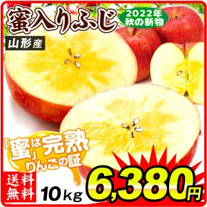 りんご 山形産 ご家庭用 蜜入りふじ(10kg)24〜54玉 大特価 数量限定 林檎 みついり 果物 国華園|kokkaen
