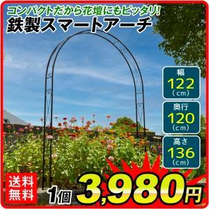 アーチ 鉄製スマートアーチ 1個 幅122・奥行12・高さ136 ガーデンアーチ ローズアーチ ガーデニング kokkaen