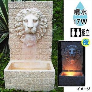 オーナメント 置物 ポリ噴水 獅子の噴水 1個 幅33.1・奥行27.1・高さ59.3 |kokkaen