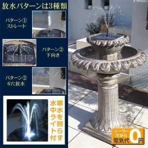 置物 オーナメント ソーラー式噴水・オニキスN(ソーラー充電式) 1個 幅50・奥行50・高さ75|kokkaen