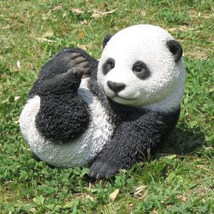 ガーデンオーナメント 動物 愉快なパンダ 1個  精巧ポリ製|kokkaen