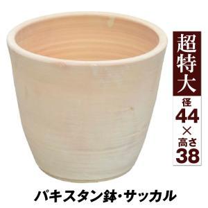 鉢 植木鉢 テラコッタ 素焼鉢 おしゃれ パキスタン鉢・サッカル 超特大 1個|kokkaen