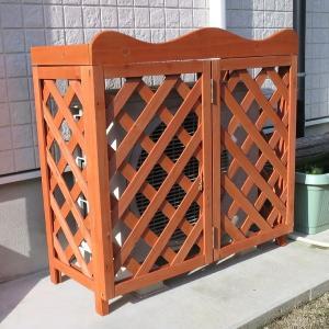 室外機カバー 木製品 木製室外機カバー・ラティス 1個 通常価格4,536円より1,000円OFF|kokkaen