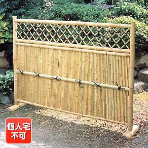 竹垣 竹フェンス 目隠し 竹製品 目隠し垣(丸竹)・横型 1枚  幅165・高さ120|kokkaen