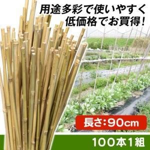 園芸支柱 支柱 天然竹支柱 90cm 100本1組|kokkaen