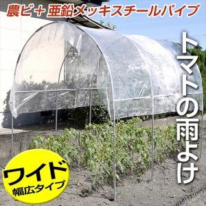 雨よけセット トマトの屋根・ワイド 1組 農業用ビニール 亜鉛メッキスチールパイプ|kokkaen