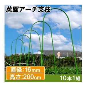 園芸支柱 支柱 菜園アーチ支柱 直径16mm 高さ200cm 10本1組|kokkaen