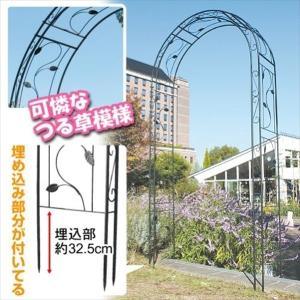 アーチ 鉄製アーチ・ラディ 1個 ガーデンアーチ ローズアーチ ガーデニング kokkaen