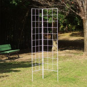 ガーデンフェンス 鉄製ワンタッチフェンス・ホワイト 1個|kokkaen