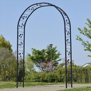 バラアーチ 鉄製アーチ・ノワールロゼ 1個 幅150・奥行45・高さ240 ガーデンアーチ ローズアーチ ガーデニング|kokkaen