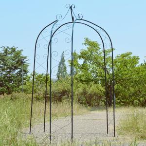 バラアーチ 送料無料 鉄製3脚ガゼボ 1個 ガーデンアーチ ローズアーチ ガーデニング アイアン 三脚|kokkaen
