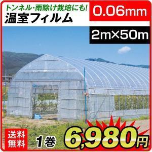 ビニール フィルム 温室フィルム(0.06mm) 2m×50m 1巻 被覆資材 農業用フィルム|kokkaen