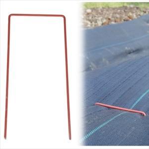 農業用マルチ・防草シート U型シート押さえ・赤 ...の商品画像