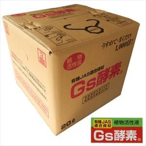 ≪代引不可≫植物活性液 Gs酵素20L 1箱 国華園|kokkaen