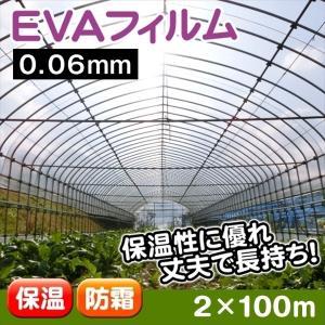 ビニール フィルム 温室フィルム EVAフィルム(0.06mm) 2m×100m 1巻 被覆資材 農業用フィルム|kokkaen