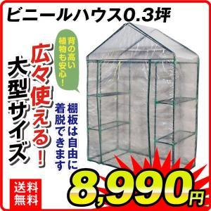 小型ビニールハウス 温室 ビニールハウス 0.3坪 1台|kokkaen