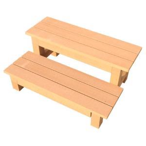 人工木2段縁台 1個|kokkaen