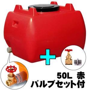 ≪代引不可≫『送料無料』 ◆バルブセット付き◆ ホームローリー 50L 赤 1組|kokkaen