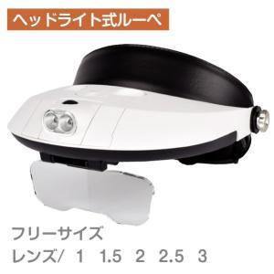 ルーペ ヘッドライト式ルーペ 白 1個|kokkaen