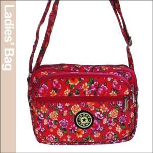 花柄レディースバッグ・赤 1個|kokkaen
