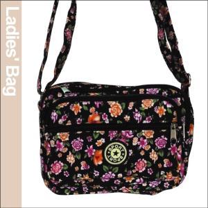 花柄レディースバッグ・黒 1個|kokkaen
