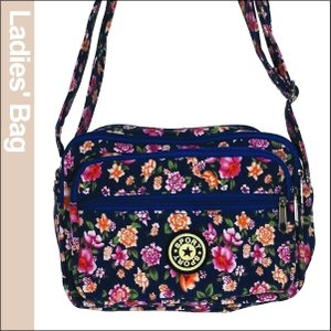 花柄レディースバッグ・青 1個|kokkaen
