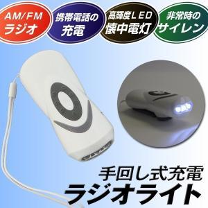ライト 手回し式充電ラジオライト 1個|kokkaen