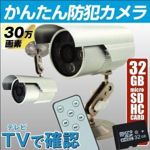 お手軽防犯カメラ テレビに繋ぐ簡単防犯カメラ(SDカード32GB付) 1個 30万画素 簡単設置|kokkaen