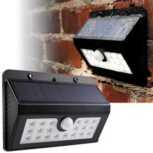 送料無料 LEDソーラーセンサーライト20 1個 庭園灯 防犯 人感センサー 夜間自動点灯 ガーデン 庭 ガレージ 玄関 屋外 照明 20LED 防雨|kokkaen