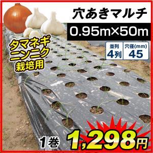 ●商品情報 タマネギ・ニンニク栽培用の穴あきマルチ! 穴あき済だから届いてすぐ使える! ●厚さ(約)...