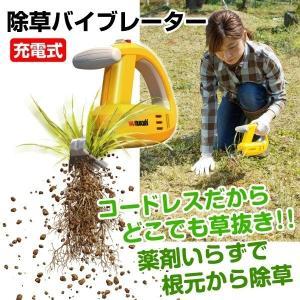 除草機 草刈り 除草 振動除草機 充電式除草バイブレーター 1台 コードレス 【代引き不可】 ガーデニング 草抜き 草むしり 家庭菜園 庭|kokkaen