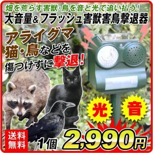 獣害対策 動物よけ 猫よけ ネコ除け ネズミ ソーラー動物よけC 1個 警報音 光 太陽電池 動体検知 防犯 防水 防鳥 退治 駆除 害獣|kokkaen