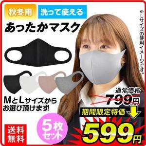 あったかマスク 5枚セット マスク 洗える 飛沫防止 国華園|kokkaen