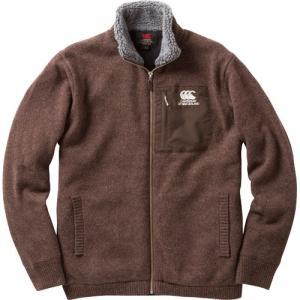CANTERBURY カンタベリー/ メンズ/ジップアップ セーター ジャケット/RA44682 62/カラー:モカ|kokkidozao