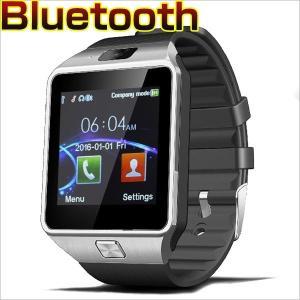 送料無料 スマートウォッチ カメラ搭載 ブルートゥース腕時計 通話対応来電通知 android io...