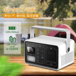 ポータブル電源 蓄電池 大容量 非常用 予備電源 コンパクト 発電機 家庭/アウトドア両用 ポータブル 電源 バッテリー QC 3.0急速充電 60000mAh 1年保証